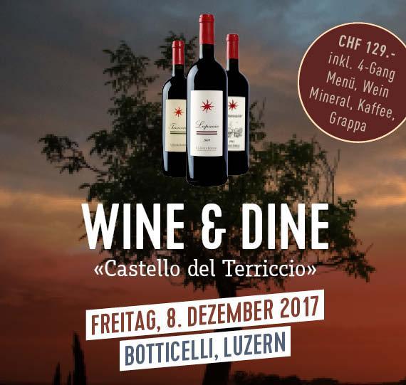 Wine & Dine mit Castello del Terriccio Im Botticelli, Luzern